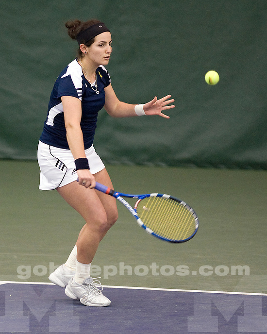 University of Michigan women's tennis team beat Yale 4-3 at the Varsity Tennis Center in Ann Arbor, Mich., on January 29, 2012.
