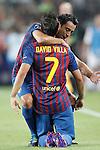 Barcelona's David Villa goal during Champions League match on september 13th 2011...Photo: Cesar Cebolla / ALFAQUI