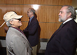 Joe Demma and Tony Marro at the Celebration of the 35th Anniversary of Newsday Investigations Team held in Newsday Auditorium in Melville on Thursday September 26, 2002. (Newsday photo by Jim Peppler).