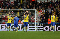Saturday 28 September 2013<br /> Pictured: Arsenal players thank their supporters.<br /> Re: Barclay's Premier League, Swansea City FC v Arsenal at the Liberty Stadium, south Wales.