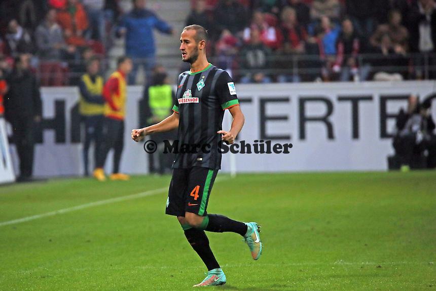 Torjubel Alejandro Galvez (Werder) beim 1:2 - 1. FSV Mainz 05 vs. SV Werder Bremenl, Coface Arena