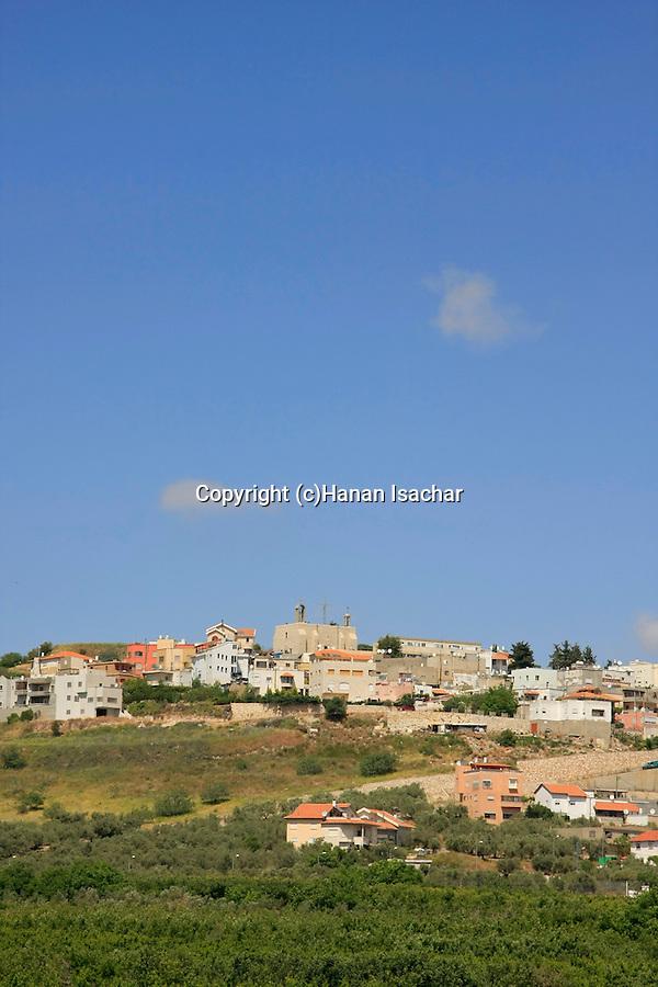 Israel, Upper Galilee, Arab town Jish (Gush Halav) located on the northeastern slopes of Mt. Meron