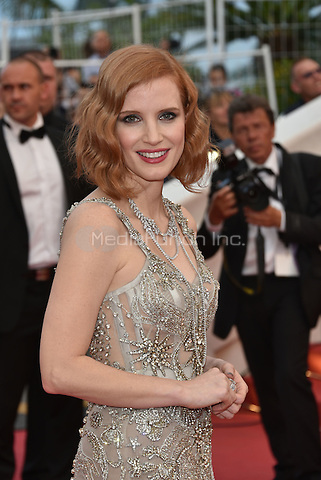 CANNES, FRANCE - MAY 12: Jessica Chastain at&acute;Money Monster` screening - 69th Cannes Film Festival, France May 12, 2016.<br />
