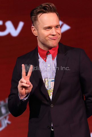Olly Murs at The Voice UK TV Show Finalists Photocall, Elstree Sudios, Hertfordshire, UK on Thursday April 5th 2018<br /> CAP/ROS<br /> &copy;ROS/Capital Pictures /MediaPunch ***NORTH AND SOUTH AMERICAS ONLY***