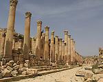 Cardo Maximus street in Jerash