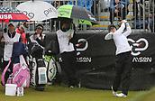 1st October 2017, Windross Farm, Auckland, New Zealand; LPGA McKayson NZ Womens Open, final round;  Belen Mozo tees off