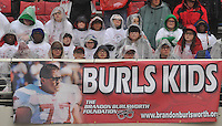 NWA Democrat-Gazette/MICHAEL WOODS &bull; The The Burls Kids wear horned-rimmed glasses to honor Brandon Burlsworth who was known for always wearing them Friday afternoon as they watch the Razorbacks take on Missouri at Razorback Stadium.<br /> The Burlsworth Trophy is an award honoring the former Razorback standout and is given out each year to the most outstanding football player in America who began his career as a walk-on.  His life will soon be the subject of a new upcoming major motion picture, &ldquo;GREATER&rdquo;, which will be released in theaters on January 22nd.<br /> <br /> <br /> To raise awareness for the upcoming film The University of Arkansas distributed glasses to all 75,000+ fans in attendance.