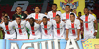 IBAGUÉ -COLOMBIA, 10-07-2015. Jugadores del Cortulúa posan para una foto previo al encuentro con Deportes Tolima por la fecha 12 de la Liga Aguila II 2016 jugado en el estadio Manuel Murillo Toro de la ciudad de Ibagué./ Players of Cortulúa pose to a photo prior a match against Deportes Tolima for the date 12 of the Aguila League II 2016 played at Manuel Murillo Toro stadium in Ibague city. Photo: VizzorImage / Juan Carlos Escobar / Str