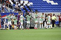 16th July 2020; Nice, France; Veolia Trohy Football friendly, OGC Nice versus Celtic FC;  Celtic team at water break speak to manager Lennon