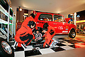 "KIDZANIA TOKYO, ""Edutainment City"",.children fixing a car at the Autobacs mechanic shop."