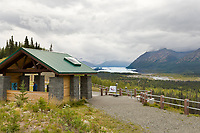 Rest stop and viewing area for the Matanuska glacier along the Glenn Highway, southcentral, Alaska.