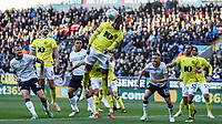 Blackburn Rovers' Kasey Palmer defending a corner kick<br /> <br /> Photographer Andrew Kearns/CameraSport<br /> <br /> The EFL Sky Bet Championship - Bolton Wanderers v Blackburn Rovers - Saturday 6th October 2018 - University of Bolton Stadium - Bolton<br /> <br /> World Copyright &copy; 2018 CameraSport. All rights reserved. 43 Linden Ave. Countesthorpe. Leicester. England. LE8 5PG - Tel: +44 (0) 116 277 4147 - admin@camerasport.com - www.camerasport.com