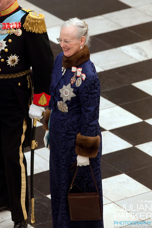 Queen Margrethe of Denmark attend the New Year Court for diplomats at Christiansborg Palace, in Copenhagen, Denmark.