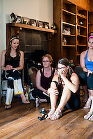 Women partake in a marijuana education class in Denver, Colorado, Saturday, July 20, 2014. <br /> <br /> Photo by Matt Nager