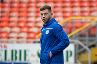 16th November 2019; Tannadice Park, Dundee, Scotland; Scottish Championship Football, Dundee United versus Queen of the South; Darren Brownlie of Queen of the South   inspects the pitch before the match - Editorial Use