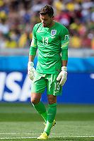 Goalkeeper Ben Foster of England looks dejected