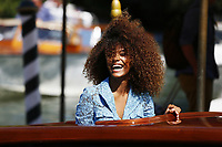 VENICE, ITALY - SEPTEMBER 05: Tina Kunakey celebrity Sightings at the 74th Venice Film Festival - September 5, 2017 in Venice, Italy. (Mark Cape/insidefoto)