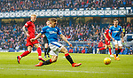 4.3.2018: Rangers v Falkirk Scottish Cup QF<br /> Greg Docherty has a shot saved