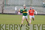 Kerry's Colin Harris and Armagh's Cahill Carvill.