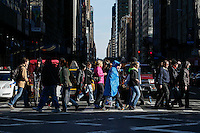 New York City, NY. 02 November 2014.A Runner walks by a street after attend the 29th New York City Marathon