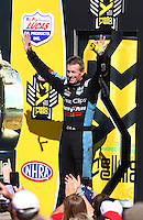 Aug 21, 2016; Brainerd, MN, USA; NHRA top fuel driver Clay Millican during the Lucas Oil Nationals at Brainerd International Raceway. Mandatory Credit: Mark J. Rebilas-USA TODAY Sports