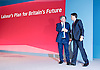 Ed Balls speech <br /> Labour Party Conference, Manchester, Great Britain <br /> 22nd September 2014 <br /> <br /> Ed Balls MP <br /> Shadow Chancellor<br /> Stability &amp; Prosperity debate<br /> <br />  Ed Miliband <br /> <br /> <br /> Photograph by Elliott Franks <br /> Image licensed to Elliott Franks Photography Services
