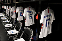 Houston, TX - Sunday April 8, 2018: USWNT locker room during an International friendly match versus the women's National teams of the United States (USA) and Mexico (MEX) at BBVA Compass Stadium.