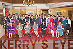 NURSES RETIREMENT: Sheila O'Leary (40 years), Kiskeam, Phil Cashman (37 years), Fenit, Helen O'Flaherty (35 years), Tralee Mary Griffin (40 years), Ardfert, Margaret Moynihan (40 years), Camp, Jody Thorton (40 years), Lixnaw and Eileen O'Neill (32 years), Tralee (all seated) who retired as Nurses of KGH enjoying a great time with a large group of family and friends at the Meadowlands hotel on Friday.