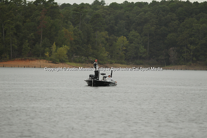 August 22, 2015: Stetson Blaylock working a point on day three of the Forrest Wood Cup on Lake Ouachita in Hot Springs, AR. Justin Manning/ESW/CSM
