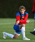 Nikica Jelavic puusing for a thought