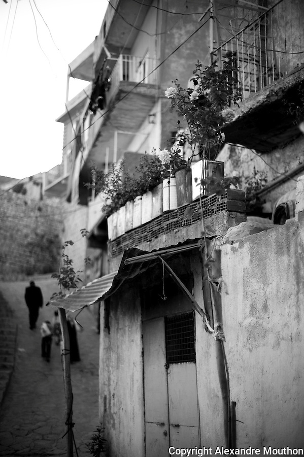 Les ruelles de la vieille ville de Mardin o&ugrave; vivent les familles kurdes et arabes les plus pauvres.<br />