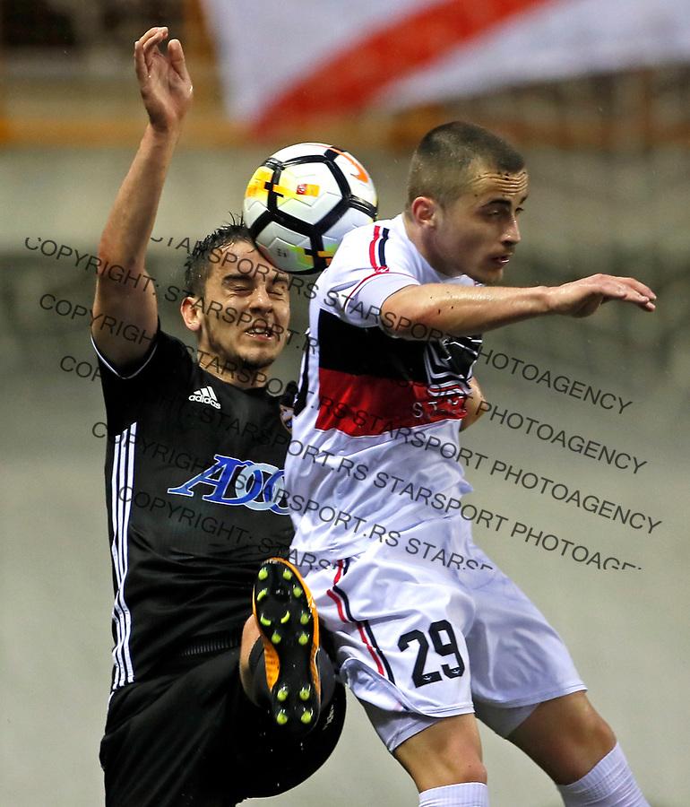 Miladin Stevanovic Borko Duronjic Vozdovac - Cukaricki super liga Srbije 5.4.1018. April 5. 2018. (credit image & photo: Pedja Milosavljevic / STARSPORT)