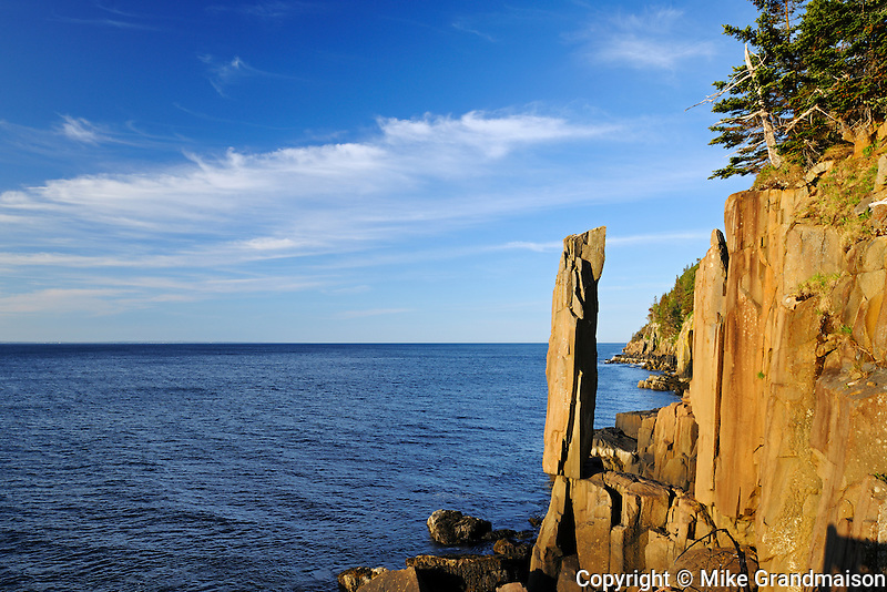 Balancing Rock on the Bay of Fundy on the Digby Neck<br />