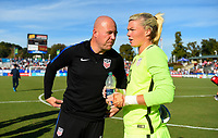 Cary, NC - Sunday October 22, 2017: Jane Campbell during an International friendly match between the Women's National teams of the United States (USA) and South Korea (KOR) at Sahlen's Stadium at WakeMed Soccer Park.