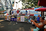 The Fourth Annual History Day at Deno's Wonder Wheel Amusement Park and The Coney Island History Project, has family fun music, history, and entertainment at historic Coney Island. A band performed at the relocated Astroland Rocket, the theme of the festivities.