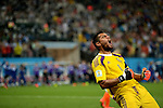 Sergio Romero (ARG),<br /> JULY 9, 2014 - Football / Soccer : FIFA World Cup 2014 semi-finals match between Netherlands and Argentina at Arena de Sao Paulo in Sao Paulo Brazil.<br /> (Photo by FAR EAST PRESS/AFLO)