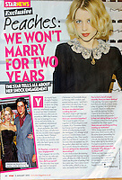 Star Magazine<br /> Peaches Geldof by CAN<br /> 41064<br /> tearsheet