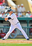 9 March 2012: Detroit Tigers outfielder Jerad Head in action during a Spring Training game against the Philadelphia Phillies at Joker Marchant Stadium in Lakeland, Florida. The Phillies defeated the Tigers 7-5 in Grapefruit League action. Mandatory Credit: Ed Wolfstein Photo