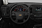 Car pictures of steering wheel view of a 2018 Chevrolet Silverado 2500HD Work Truck Regular Cab  2 Door Pick Up