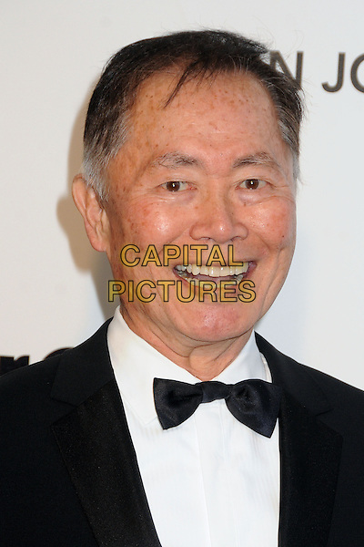 George Takei.21st Annual Elton John Academy Awards Viewing Party held at West Hollywood Park, West Hollywood, California, USA..February 24th, 2013.oscars headshot portrait smiling black suit tuxedo white shirt .CAP/ADM/BP.©Byron Purvis/AdMedia/Capital Pictures.