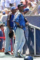 New York Mets infielder Julio Franco before a game against the Chicago Cubs at Wrigley Field on July 15, 2006 in Chicago, Illinois.  (Mike Janes/Four Seam Images)