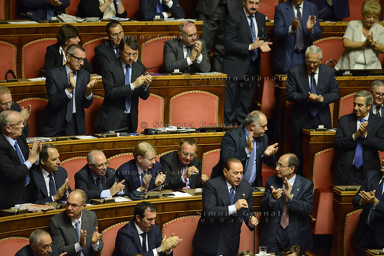 Roma, 2 Ottobre 2013<br /> Senato <br /> Silvio Berlusconi dichiara la  Fiducia al Governo Letta