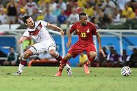 FUSSBALL WM 2014  VORRUNDE    GRUPPE G     Deutschland - Ghana                 21.06.2014 Mats Hummels (li, Deutschland) gegen Jordan Ayew (re, Ghana)