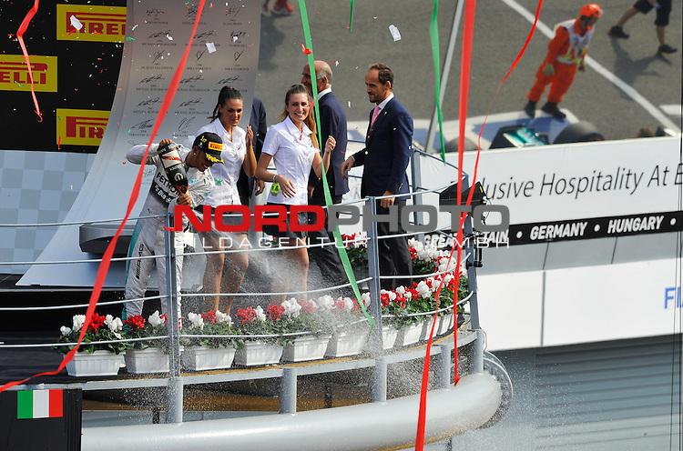 Podium - Lewis Hamilton (GBR), Mercedes GP<br />  Foto &copy; nph / Mathis