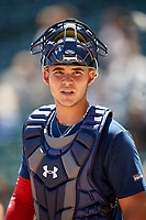 Alek Boychuk (22) during the Under Armour All-America Game, powered by Baseball Factory, on July 22, 2019 at Wrigley Field in Chicago, Illinois.  Alek Boychuk attends Mill Creek High School in Buford, Georgia and is committed to the University of South Carolina.  (Mike Janes/Four Seam Images)