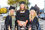 Bachelor of Science Health and Leisure with Massage Denise Crickard, Emma Mackessy, Sinead Dunbar at the Institute of Technology Tralee Autumn Conferring of Awards Ceremony at the Brandon Hotel on Friday