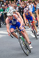 04 JUL 2010 - ATHLONE, IRL - Alistair Brownlee (GBR) heads the lead bike pack during the European Elite Mens Triathlon Championships (PHOTO (C) NIGEL FARROW)