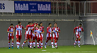 6th November 2019; Vozdovac Stadium, Belgrade, Serbia; UEFA Under 19 UEFA Youth league football, FK Crvena Zvezda under 19s versus Tottenham Hotspur under 19s; Andrija Radulovic of FK Crvena Zvezda celebrates after scoring his goal with his team mates