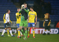 Leeds United's goalkeeper Bailey Peacock-Farrell applauds the fans at the final whistle <br /> <br /> Photographer Stephen White/CameraSport<br /> <br /> The EFL Sky Bet Championship - Bolton Wanderers v Leeds United - Saturday 15th December 2018 - University of Bolton Stadium - Bolton<br /> <br /> World Copyright &copy; 2018 CameraSport. All rights reserved. 43 Linden Ave. Countesthorpe. Leicester. England. LE8 5PG - Tel: +44 (0) 116 277 4147 - admin@camerasport.com - www.camerasport.com