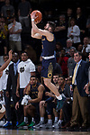 Matt Farrell (5) of the Notre Dame Fighting Irish fires up the game-winning three-point shot as time runs down in the second half of play against the Wake Forest Demon Deacons at the LJVM Coliseum on February 24, 2018 in Winston-Salem, North Carolina. The Fighting Irish defeated the Demon Deacons 76-71.  (Brian Westerholt/Sports On Film)